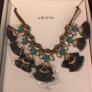 Stella & Dot Lotus Tassel Necklace
